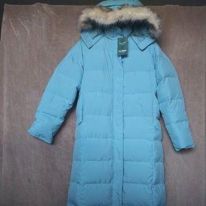 NWT LLBean Womens Down Ultrawarm Full Length Coat